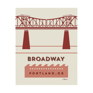 Broadway Bridge Print 8x10 by April Black
