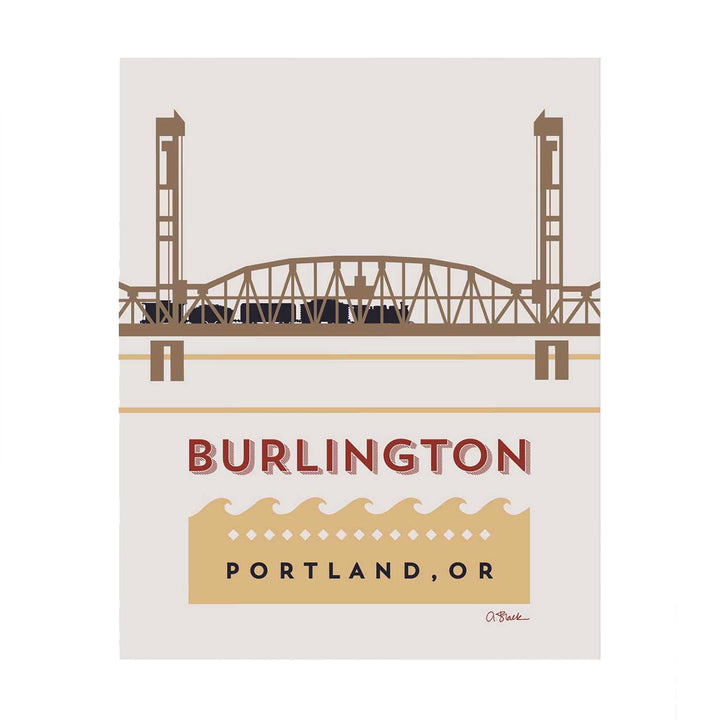 Burlington Bridge Print 8x10 by April Black