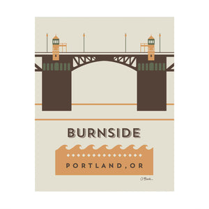 Burnside Bridge Print by April black