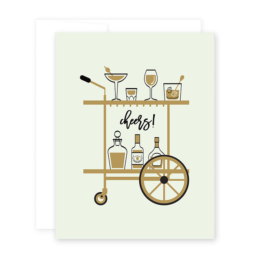 Congrats Bar Cart Card by April Black