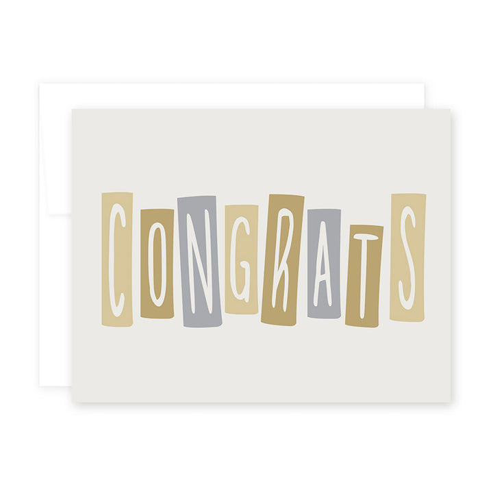 Congrats Blocks Card by April Black