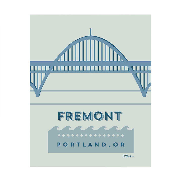 Fremont Bridge Print 8x10 by April Black