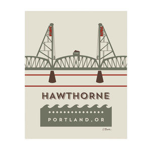Hawthorne Bridge Print by April Black