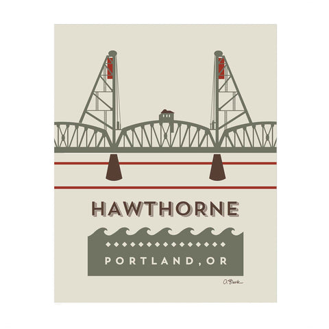 Hawthorne Bridge Print