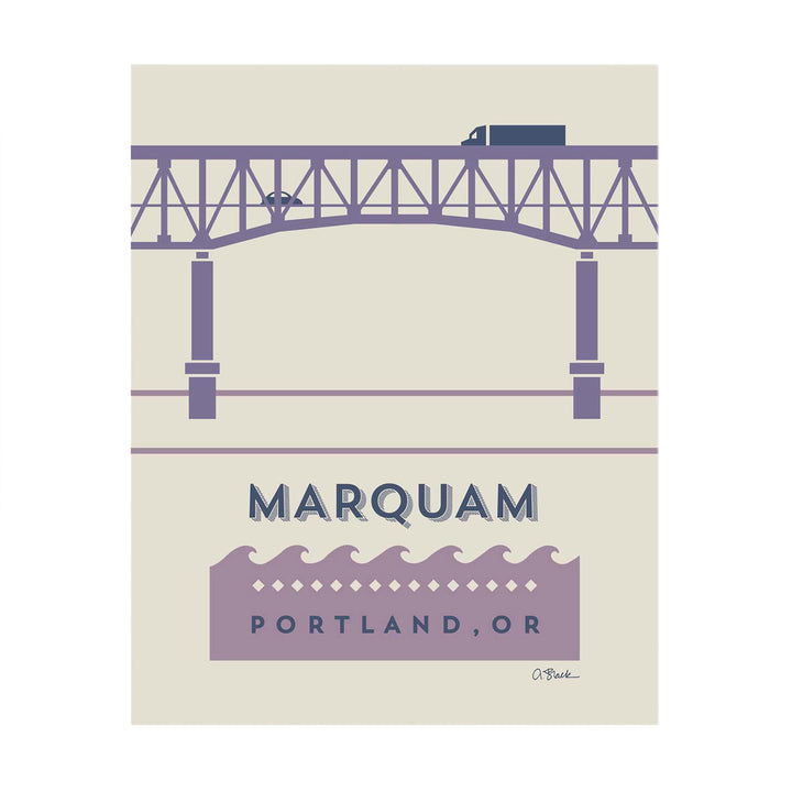 Marquam Bridge Print 8x10 by April Black