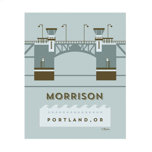 Morrison Bridge Print 8x10 by April Black