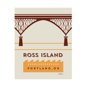 Ross Island Bridge Print 8x10 by April Black