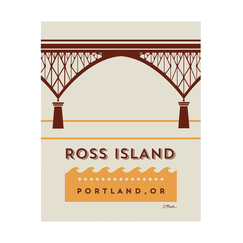 Ross Island Bridge Print