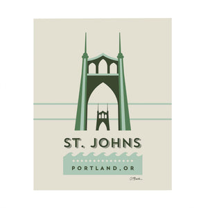 St. John's Bridge Print 8x10 by April Black