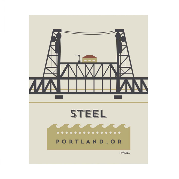 Steel Bridge Print 8x10 by April Black