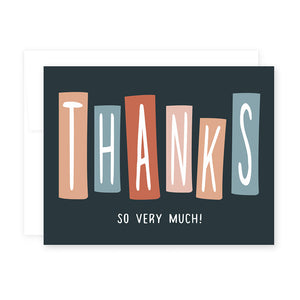 Thanks So Very Much Blocks Card by April Black