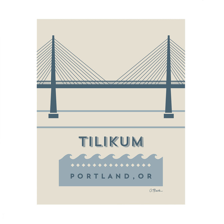 Tilikum Bridge Print 8x10 by April Black