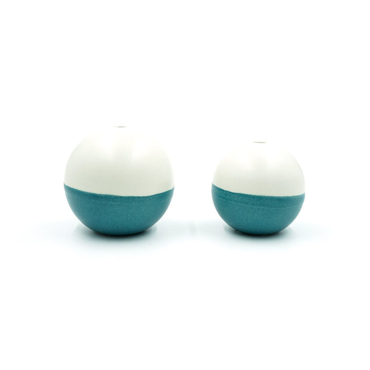 Balls! Bud Vase Teal/Cream