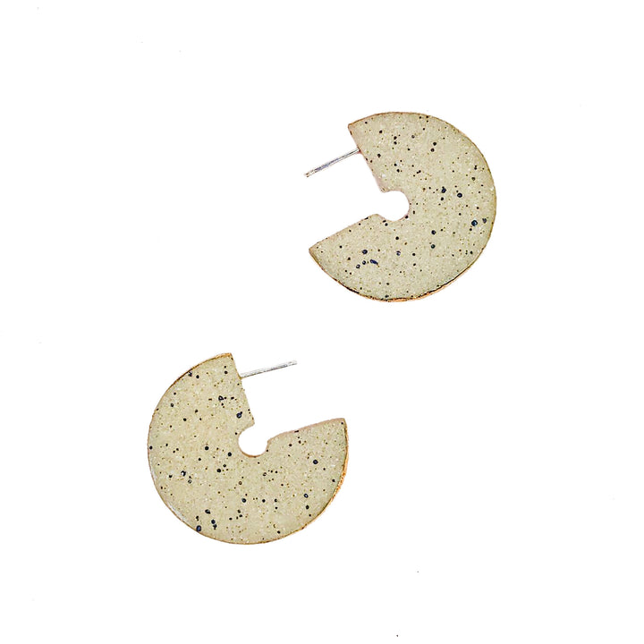 Clave Stud Earrings Gold by Barrow