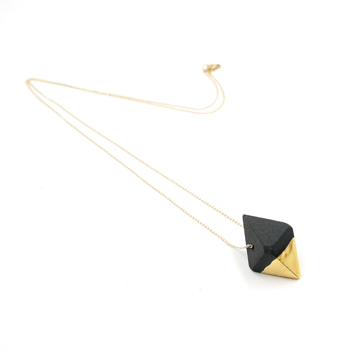 Prism Obsidian Necklace