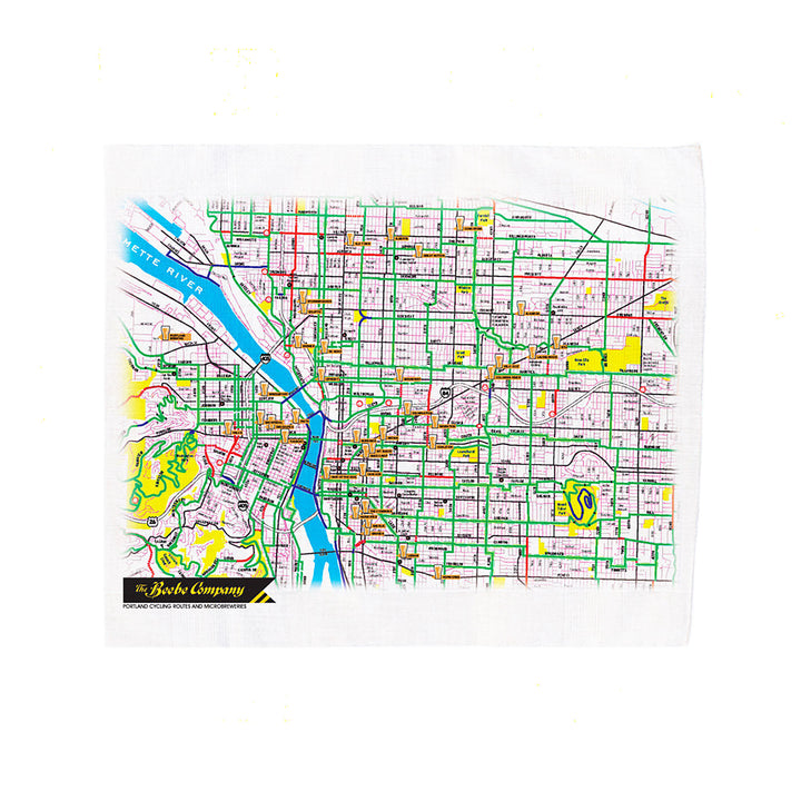 Kerouac Handkerchief Map by The Beebe Company