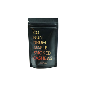 Maple Smoked Cashews 1oz Bag by Conundrum