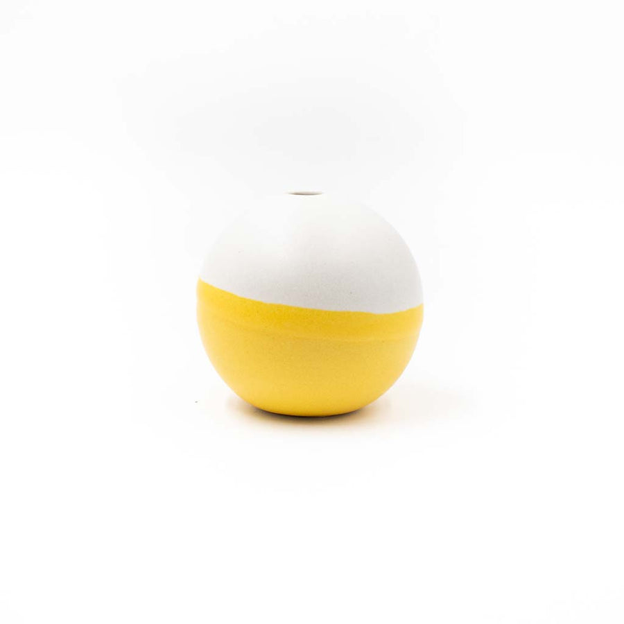 Balls! Vase Sherbet/ Cream by Theresa Arrison