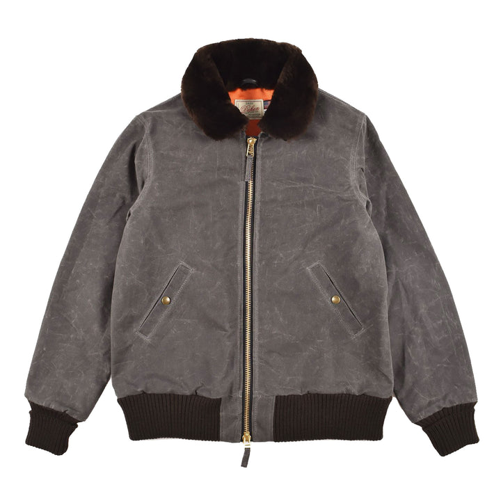 Dehen 1920 Flyer's Club Jacket Waxed Canvas Charcoal Brown