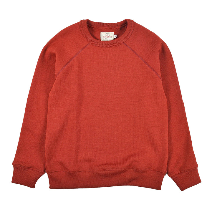 Raglan Crew Neck Sweater Forster Red by Dehen 1920