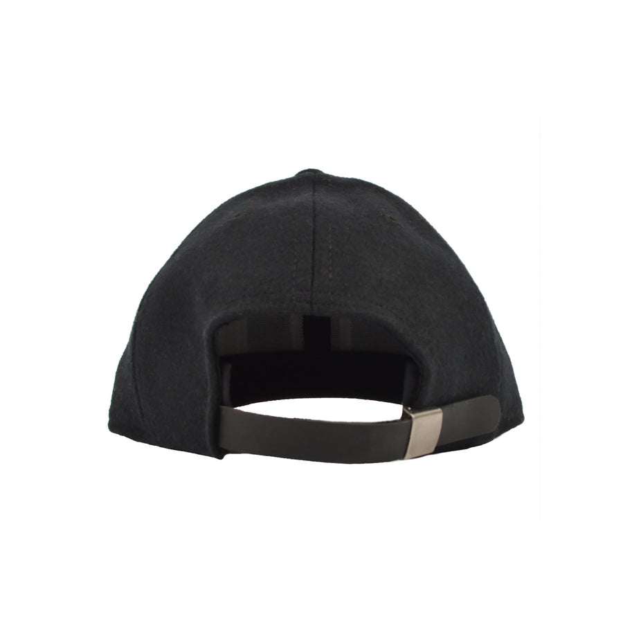 "Black ""PTLD"" Wool Baseball Hat by Dehen 1920"