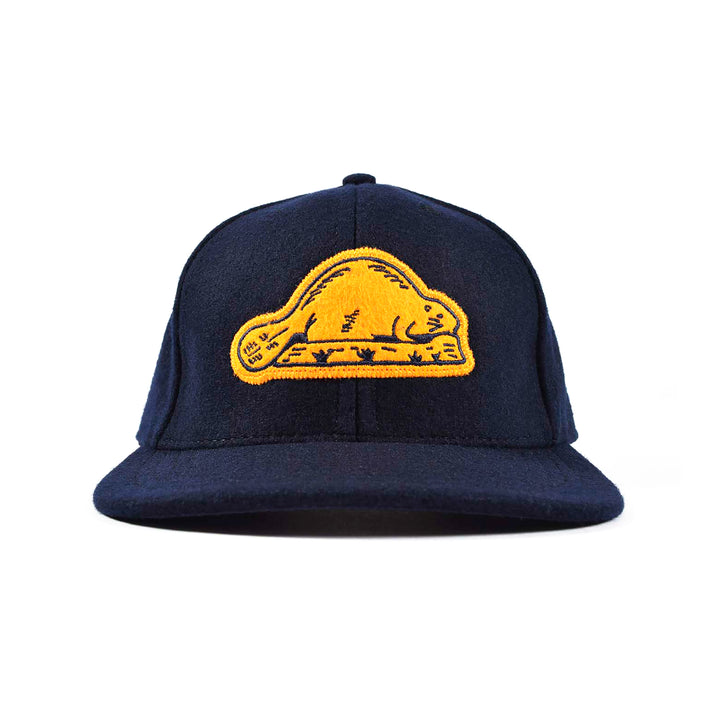 Beaver State Baseball Hat Dark Navy/Gold by Dehen 1920