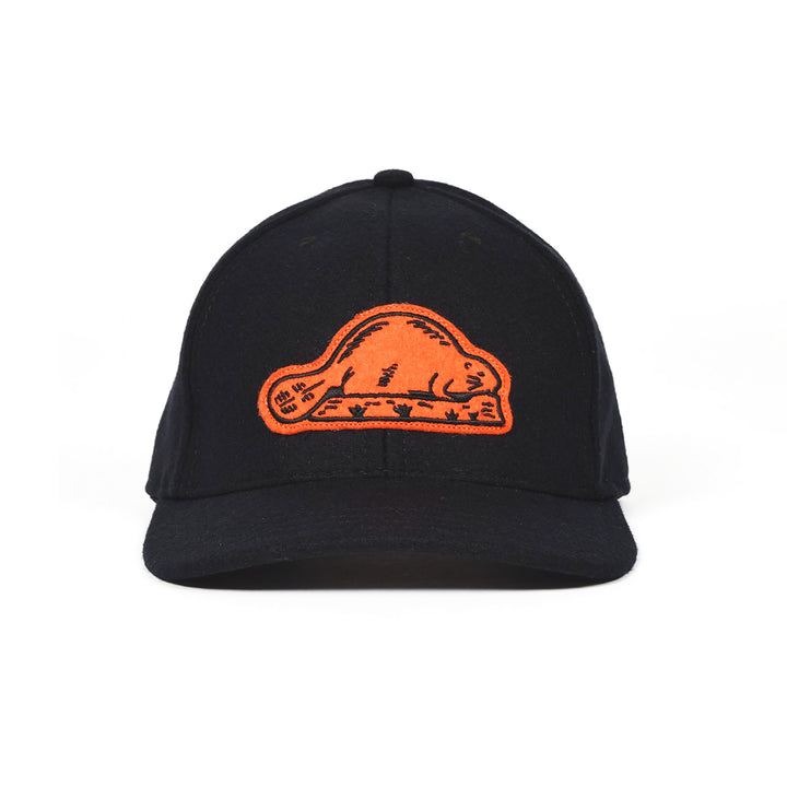 Beaver State Baseball Hat Black/Orange by Dehen 1920