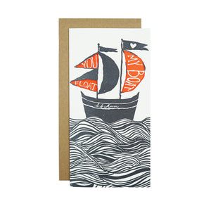 You Float My Boat Card by Egg Press