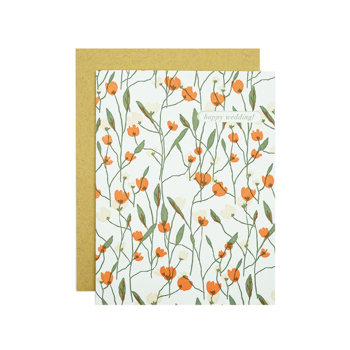 Tulip Garden Wedding Card by Egg Press