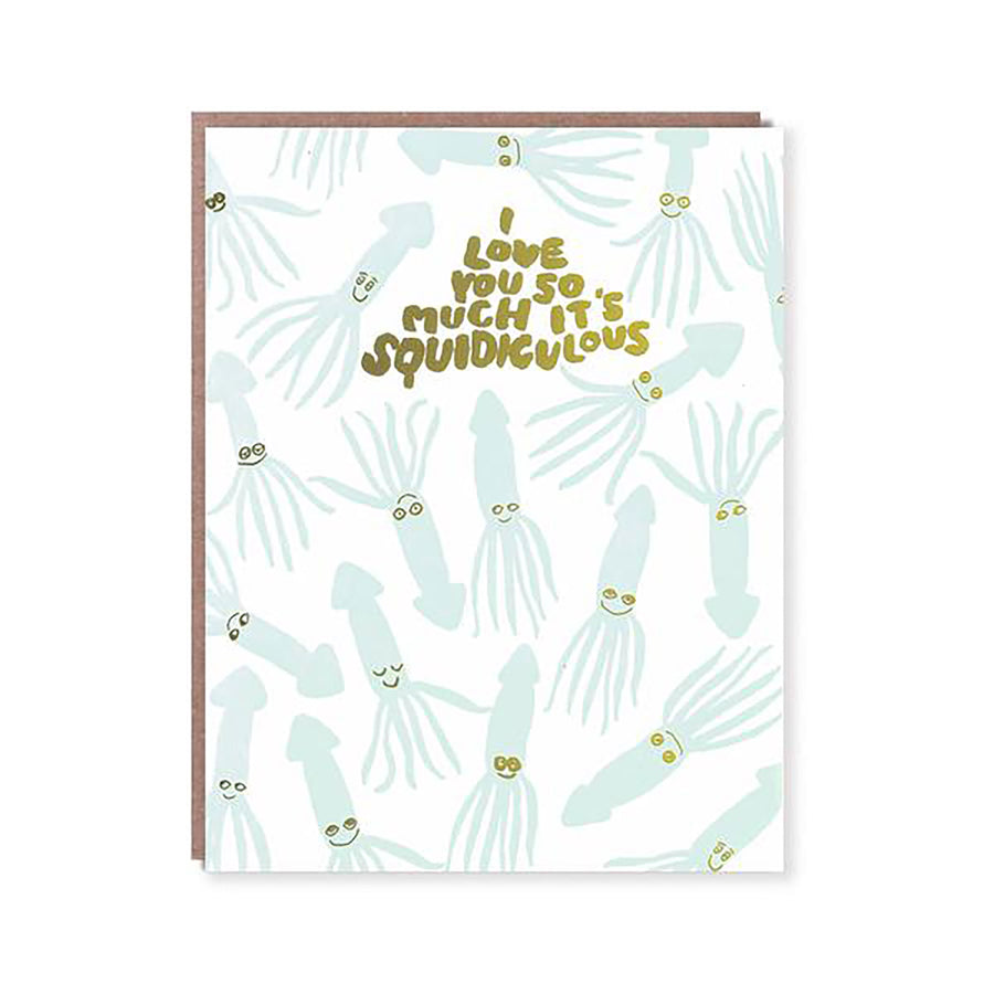 Squidiculous Card by Egg Press