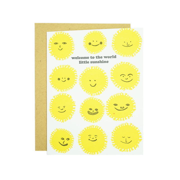 Welcome Sunshine Card by Egg Press