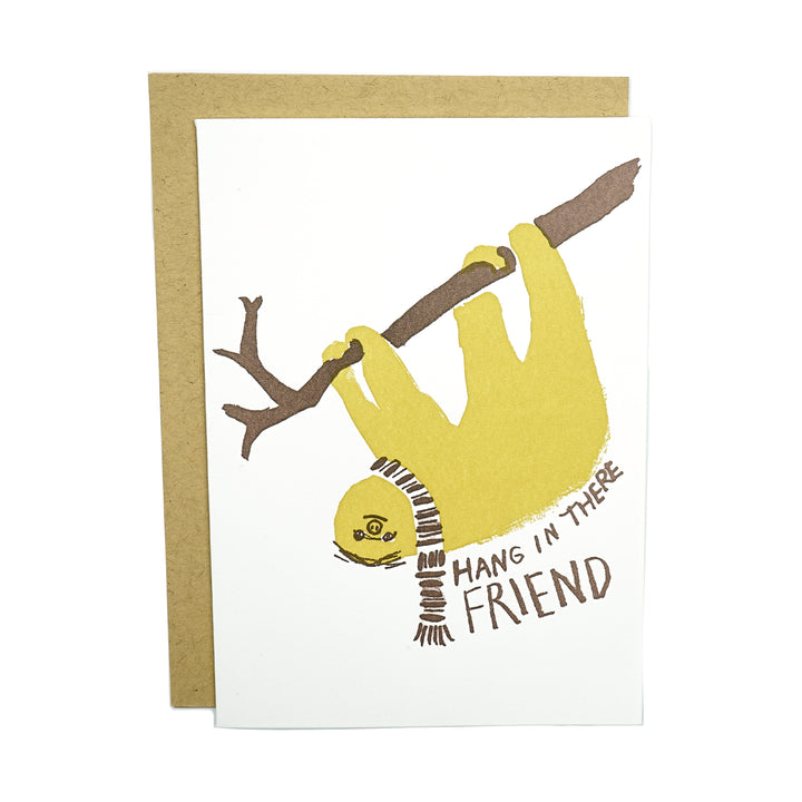 Sloth Hang In There Card