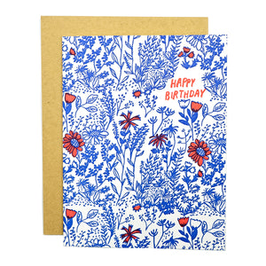 Wild Floral Birthday Card