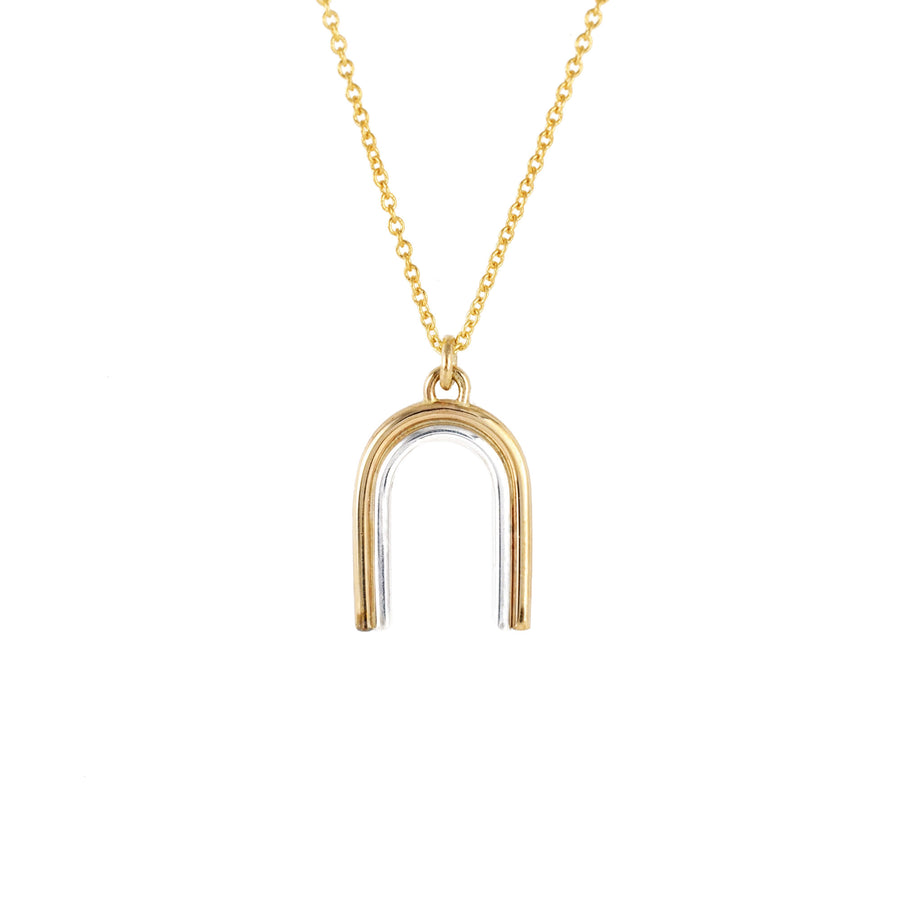 Arcos Two Tone Necklace by Emma Brooke Jewelry