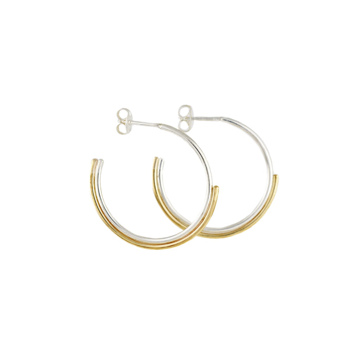 Sun & Moon Hoops by Emma Brooke Jewelry