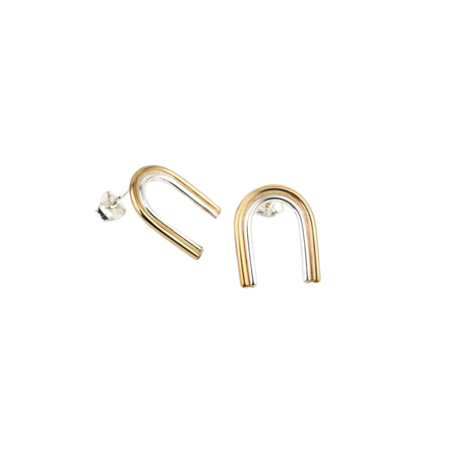 Arcos Two Tone Studs by Emma Brooke Jewelry