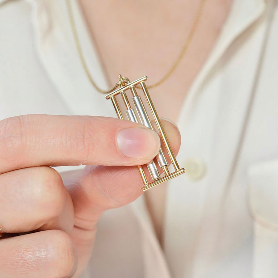 Kinetic Rolling Fidget Necklace by Emma Brooke Jewelry