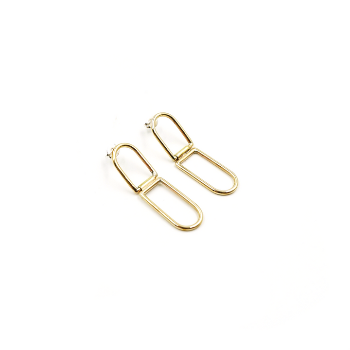 Brass Hinged Studs by Emma Brooke Jewelry