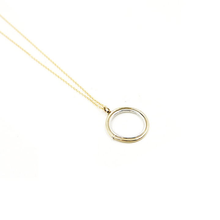 Kinetic Spinning Orbit Necklace by Emma Brooke Jewelry