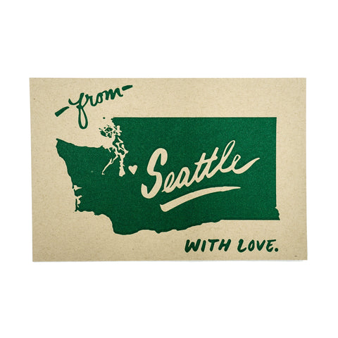 With Love from Seattle Postcard