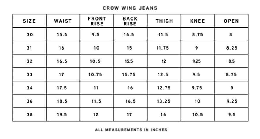 Black Crow Wing Jean
