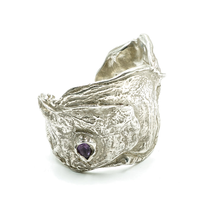 Ama Cuff With Amethyst by Grace Gow
