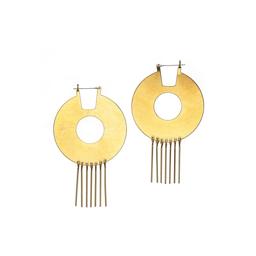 Deco Disc Earrings High Society Collection