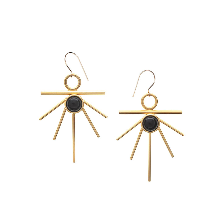 Gold Sunburst Earrings High Society Collection