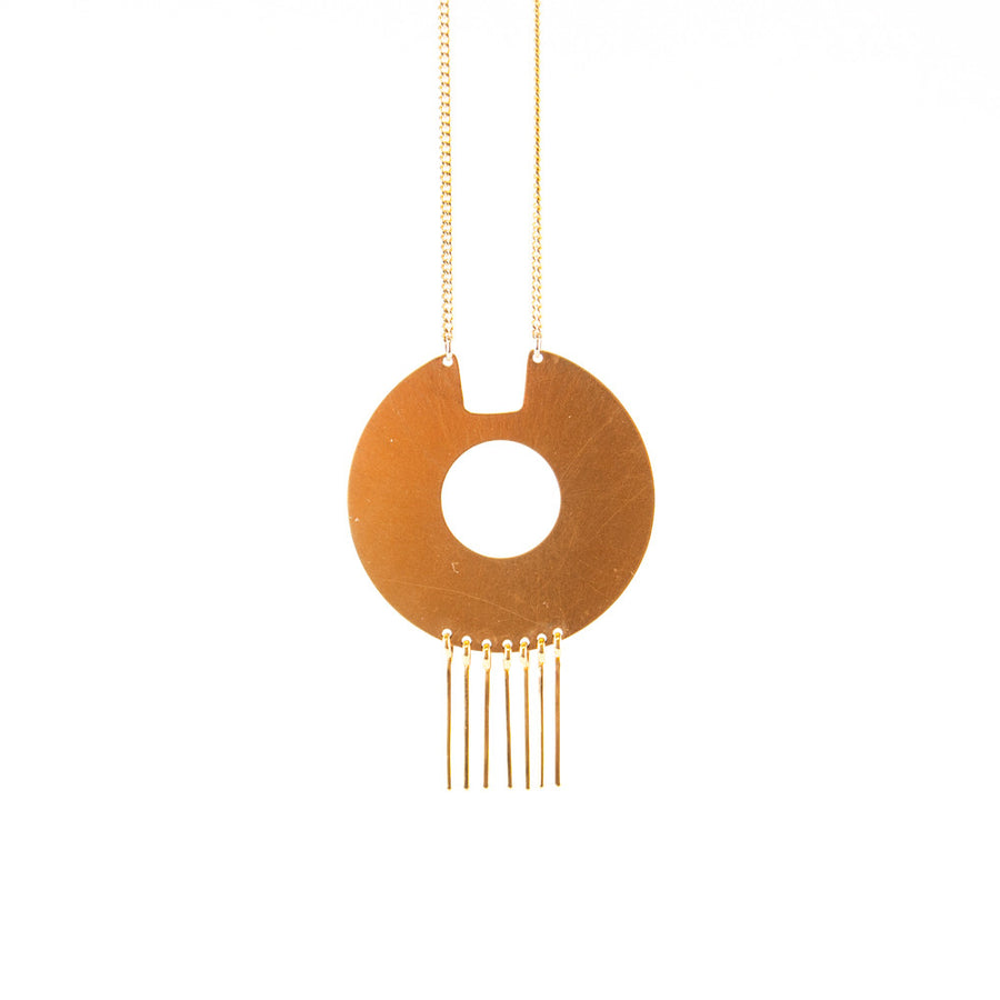 Deco Disc Necklace