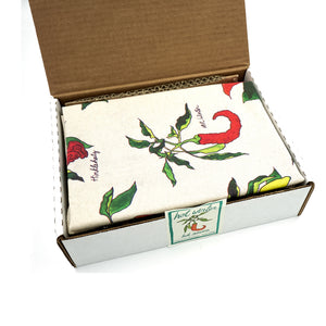Hot Sauce & Tea Towel Gift Set