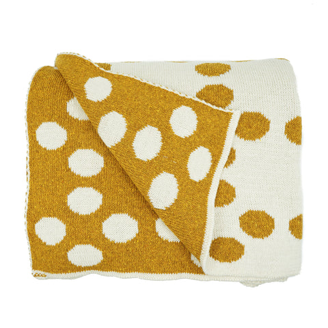Recycled Cotton Dots Throw