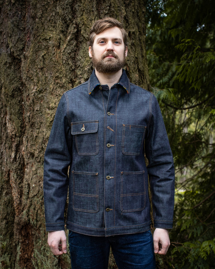 Selvedge Denim Chore Coat by Ginew