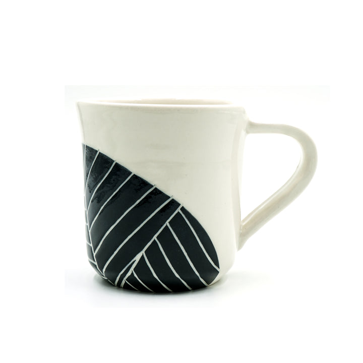 Leaf Carved Mug by Jennifer Spring Ceramics