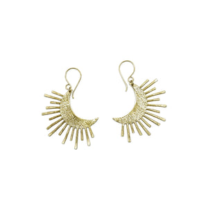 Crescent Sun Earrings